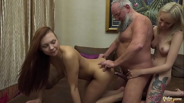 Old young, Blowjob and cum